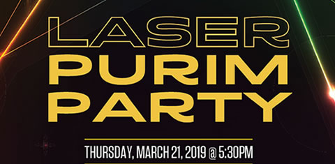 Family Laser Purim Party @ Rinx